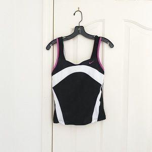 Nike Black, White & Pink Active Tank Top